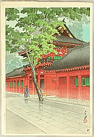 Hasui Kawase 1883-1957 - After Rain at Sanno Shrine