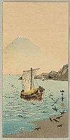 Seiko Aoki fl.ca. 1900- 1930 - Sail Boats and Mt. Fuji
