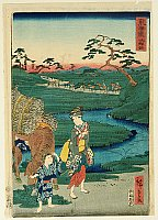Hiroshige II Utagawa 1829-1869 - The Scenic Places of Tokaido - Chiryu