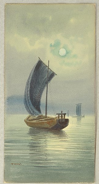 Unknown - Boat in Moonlight