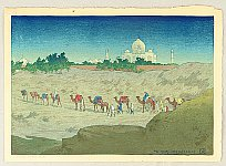 Charles William Bartlett 1860-1940 - Taj Mahal From the Desert
