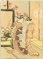 Harunobu Suzuki 1724-1770 - Beauties in a Living Room
