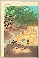 Bakufu Ono 1888-1976 - Farmer's Family in Autumn Harvest