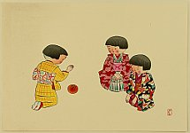 Hitoshi Kiyohara 1896-1956 - Playing with Ball