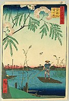 Hiroshige Ando 1797-1858 - Ayase River - One Hundred Famous Views of Edo