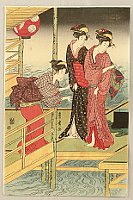 Toyohiro Utagawa 1773-1828 - Beauties on Veranda