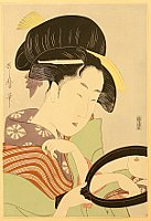 Utamaro Kitagawa 1750-1806 - Reflection in a Mirror
