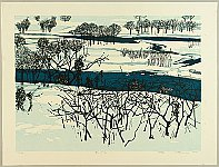 Fumio Kitaoka 1918-2007 - Snow on the Riverbank