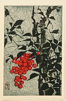 Gakusui Ide 1899-1992 - Nandin Berries and Bamboo