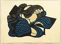 Yoshitoshi Mori 1898-1992 - Beauty - Blue