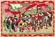 Chikanobu Toyohara 1838-1912 - Wedding Procession