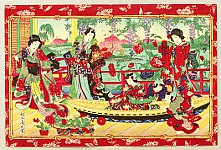 Chikanobu Toyohara 1838-1912 - Toy Boat