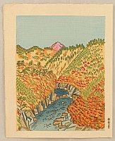 Unichi Hiratsuka 1895-1997 - Oku-Tama in Autumn