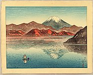 Kazue Yamagishi 1893- ca.1966 - Lake Ashi and Mt. Fuji