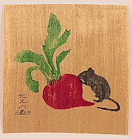 Hokuzan Sato born 1940 - Mouse and Radish