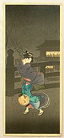 Hiroaki (Shotei) Takahashi 1871-1945 - Cold Winter Wind
