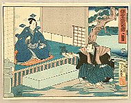 Yoshitoshi Tsukioka (Taiso) 1839-1892 - 47 Ronin - Kanadehon Chushingura Act.2