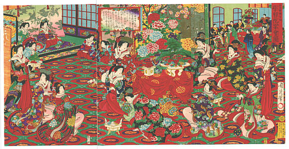 Chikanobu Toyohara 1838-1912 - Banquet