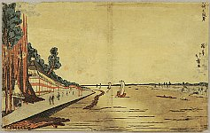 Hokuju Shotei 1763-1824 - Scenery at Okazaki