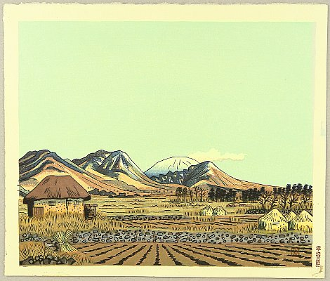 Unichi Hiratsuka 1895-1997 - Mt. Asama in the Early Spring
