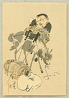 Zeshin Shibata 1807-1891 - Daikoku and Mouse