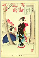 Shuntei Miyagawa 1873-1914 - Fuzoku Tsu - Beauties and Red Maple