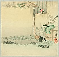 Cat on a Windowsill - By Shibata Zeshin