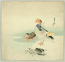 Gekko Ogata 1859-1920 - Mandarin Ducks