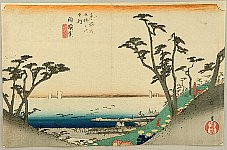 Hiroshige Ando 1797-1858 - 53 Stations of the Tokaido (Hoeido) -Shirasuka