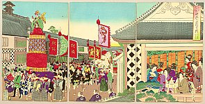 Chikanobu Toyohara 1838-1912 - Customs and Manners of Edo 12 Months - June