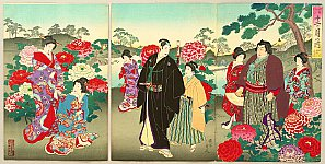 Chikanobu Toyohara 1838-1912 - Customs and Manners of Edo 12 Months - April