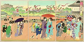Chikanobu Toyohara 1838-1912 - Customs and Manners of Edo 12 Months - July