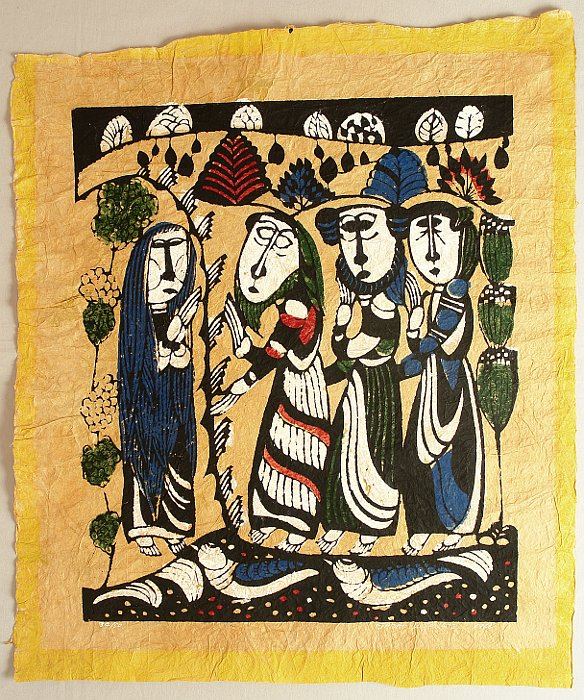 Sadao Watanabe 1913-1996 - Bible :  Mary Magdalene Announces the Resurrection