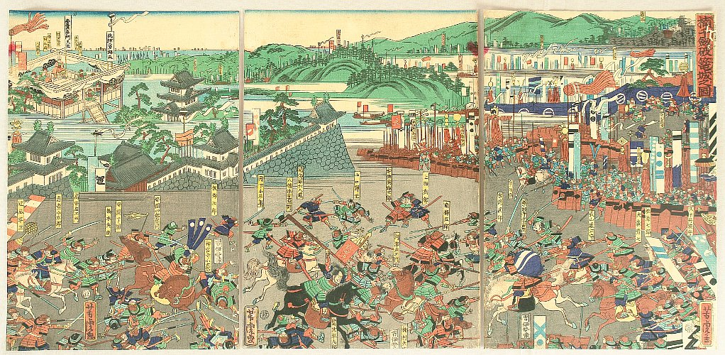 Battle of Ashikaga and Kusunoki - By Utagawa Yoshitora