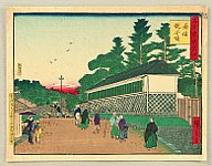 Hiroshige III Utagawa 1842-1894 - The Famous Places of Tokyo; The Past and The Present - Akasaka