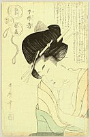 Utamaro Kitagawa 1750-1806 - Courtesan Moxibustion