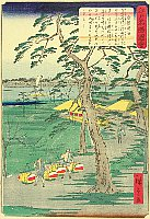 Hiroshige II Utagawa 1829-1869 - Shirahige Myojin - Scenic Places of Edo