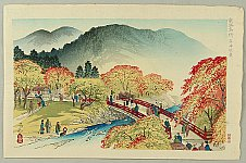 Yoshimitsu Nomura 1870 - 1958 - Famous Places of Kyoto - Takao