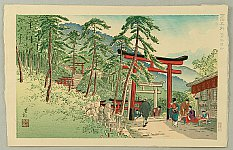 Yoshimitsu Nomura 1870 - 1958 - Famous Places of Kyoto - Fushimi Inari