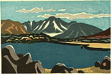 Susumu Yamaguchi 1897-1983 - Four Images of Mountains - Mt. Sugoroku and a  Lake