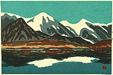Susumu Yamaguchi 1897-1983 - Four Images of Mountains - Happo Lake and Mt. Shirouma