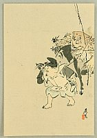 Zeshin Shibata 1807-1891 - Ebisu and Ox
