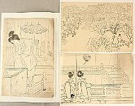 Suizan Miki 1887-1957 - 3 Keyblock prints