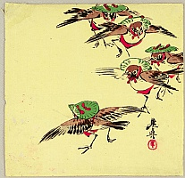 Zeshin Shibata 1807-1891 - Birds in Festival