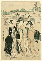 Tsukimaro Kitagawa active 1789-1829 - In a Procession