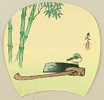 Zeshin Shibata 1807-1891 - Bamboo and Bird