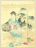 Shoso Mishima 1856-1928 - Beauty in a  Resort