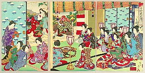 Chikanobu Toyohara 1838-1912 - Customs and Manners of Edo 12 Months - December