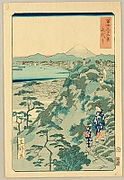 Hiroshige II Utagawa 1829-1869 - Thirty-six Views of Mt.Fuji - Eitai Temple