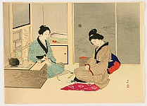 Kason Suzuki 1860-1919 - Talking in a Living Room